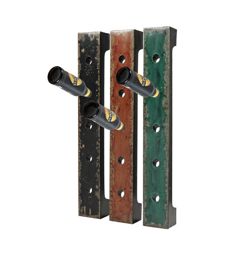 Sterling Industries Set of 3 Wall Hanging Wine Racks in Reiss Black/ Red / Green 51-10045 photo