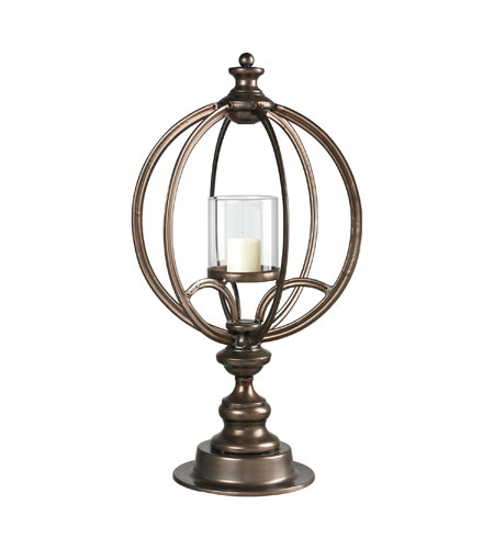 Sterling Industries Hurricane Lantern in Conduit Copper 51-10070 photo