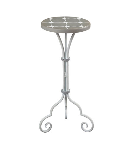 Sterling 51-10135 Ayer Grey and White Plant Stand photo