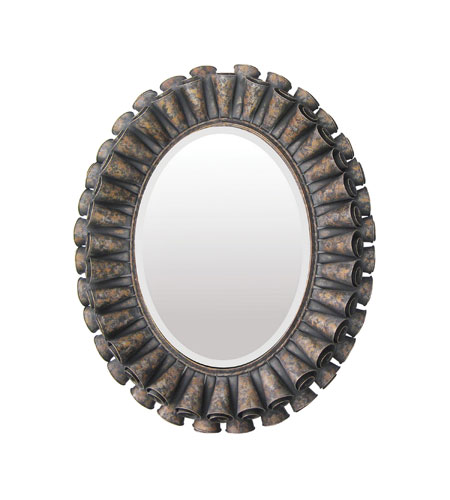 Sterling 55-0027M Rufflef Oval 39 X 33 inch Humbolt Wall Mirror photo