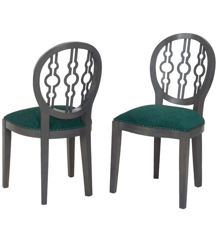 Sterling 7011 630 Dimple Antique Smoke, Green Boudoir Chair In Antique  Smoke And Green