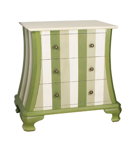 Sterling Industries Green Chevron Chest 84-9943 photo