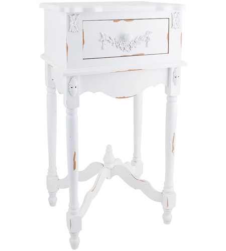 Sterling Industries White Milkpaint Side Table 89-1803 photo