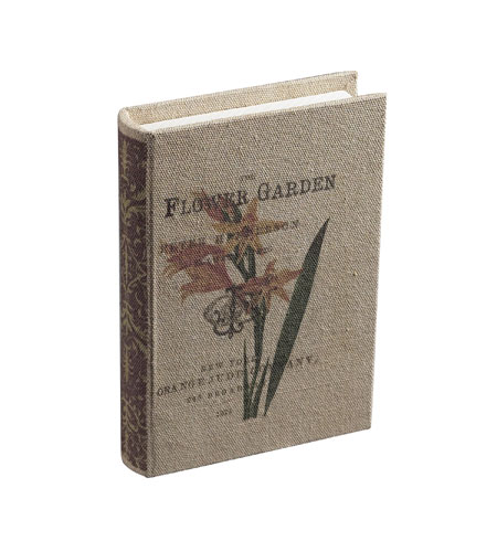 Sterling Industries The Flower Garden Keepsake Book Decorative Accessory in Cream Linen 89-8001 photo