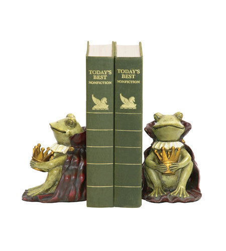 Sterling Industries Pair Frog Prince Bookends Decorative Accessory 91-1111 photo