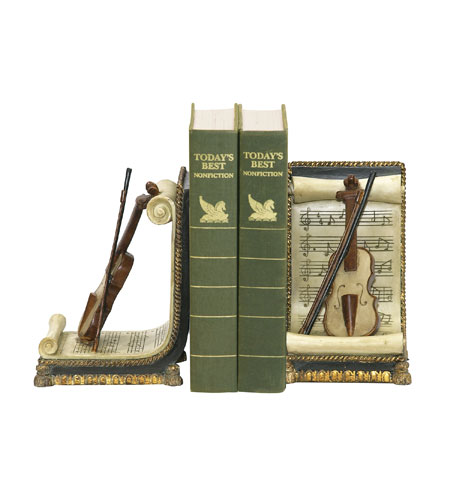 Sterling Industries Pair Violin And Music Bookends Decorative Accessory 91-1613 photo