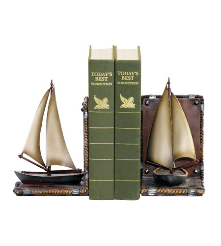 Sterling Industries Pair Sailboat Bookends Decorative Accessory 91-3907 photo