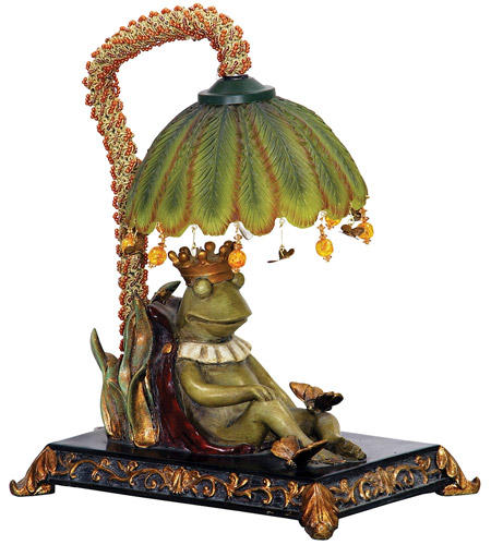 Sterling 91-740 Sleeping King Frog 12 inch 15 watt Table Lamp Portable Light photo