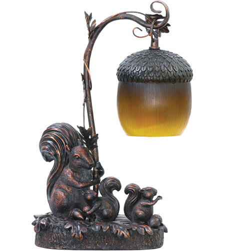 Sterling Industries Squirrel Acorn 1 Light Table Lamp in Burwell Bronze 91-768 photo