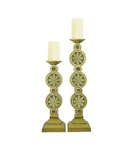 Sterling Industries Pair Medallion Scroll Candleholders Decorative Accessory 93-0940 photo