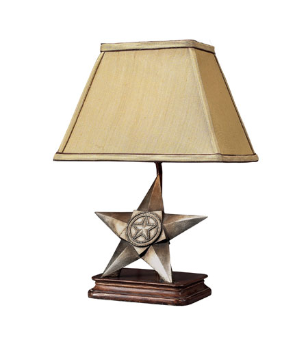 Sterling Industries Star of Texas 1 Light TABLE LAMP in Antique Silver 93-10011 photo