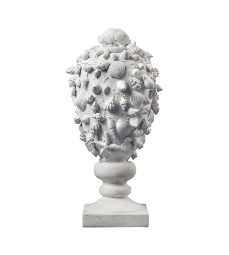 Sterling Industries Seashell Urn Decorative Accessory in Chalk 93-10057 photo
