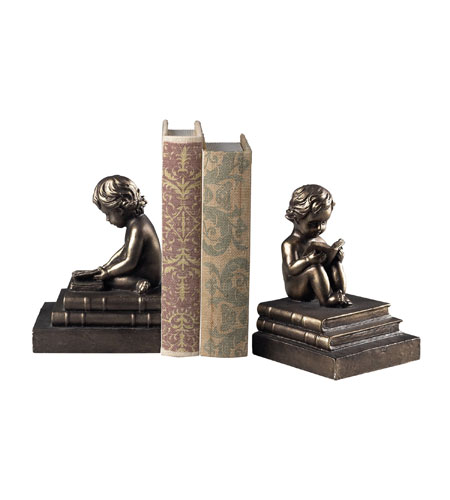 Sterling Industries Study Time Bookends Decorative Accessory in Bronze 93-10059/S2 photo
