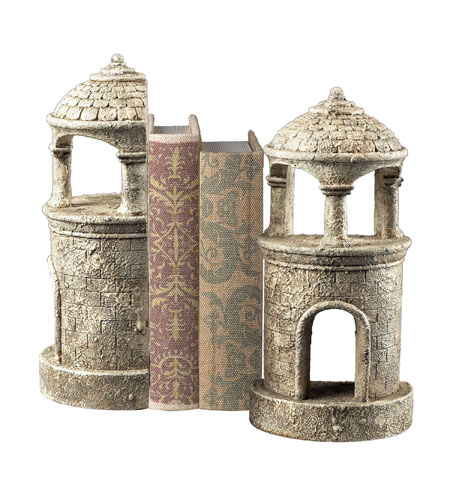 Sterling Industries Turret Bookends Decorative Accessory in Vintage Black 93-10066/S2 photo