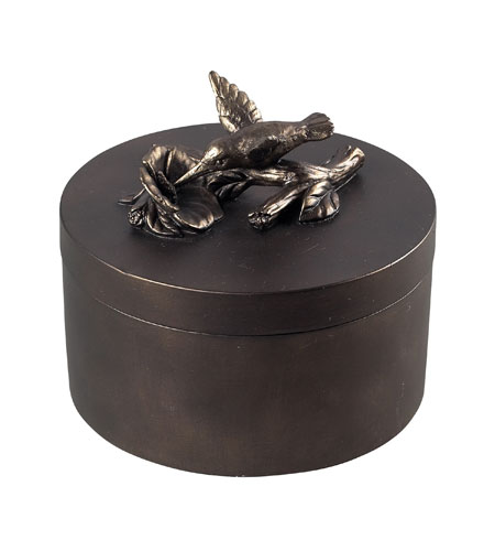 Sterling Industries Humming Nird Box Decorative Accessory in Quill Bronze 93-10069 photo