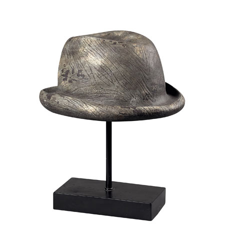 Sterling Industries Tribly Hat On A Stand Decorative Accessory in Weaver Grey 93-10075 photo