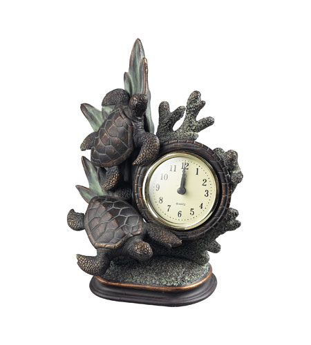Sterling Industries Swimming Turtle Clock in Solemant 93-10076 photo