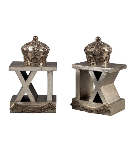 Sterling 93-10083/S2 Bookends Antique Silver Decorative Accessory photo