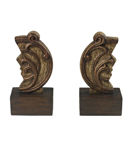 Sterling 93-19294/S2 Reclaimed Artifact 9 X 4 inch Brandywine Wood Bookends photo