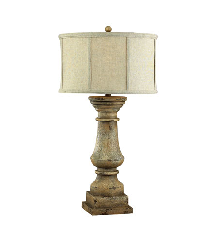 Sterling Industries Cahors View 1 Light Table Lamp in Monkstown Distressed Beige 93-9121 photo