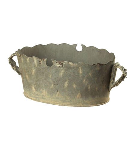 Sterling Industries Antique Metal Storage Dishes - Large Decorative Accessory in Montauk Grey 93-9147 photo
