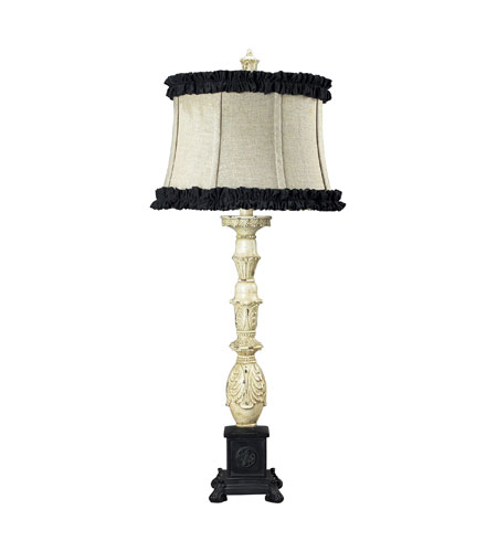 Sterling Industries La Place 1 Light Table Lamp in Antique White / Matte Black 93-9158 photo