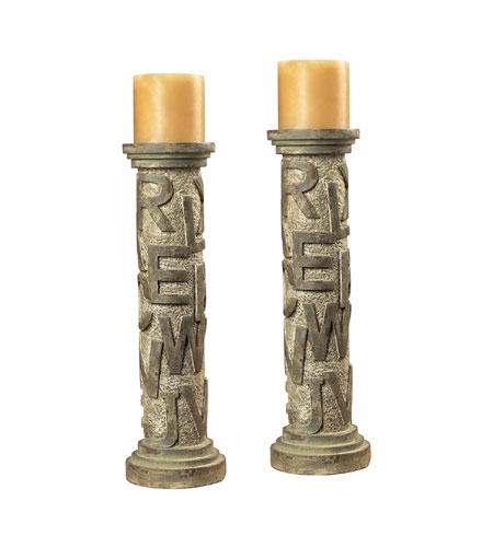 Sterling Industries Alphabet Table Candel Holders Decorative Accessory in Montuak With Avignon 93-9166 photo