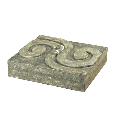 Sterling Industries Single Scroll Top Flat Box Decorative Accessory in Montauk Grey 93-9173 photo