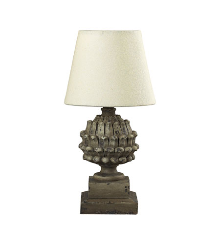 Sterling Industries Stone Acorn Table Lamp Mini Table Lamp in Halifax Grey 93-9190 photo