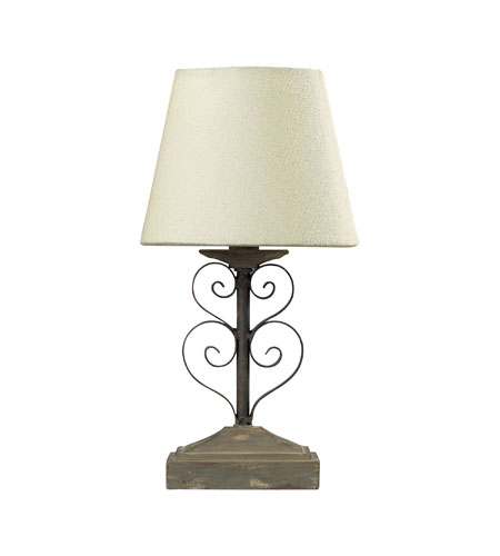 Sterling Industries Mini Iron Table Lamp Mini Table Lamp in Montauk Grey 93-9192 photo