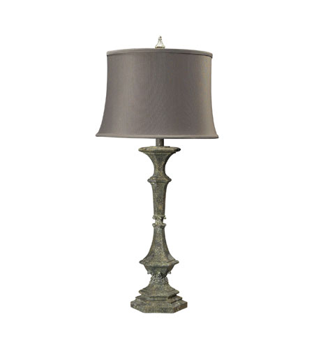 Sterling Industries Table Lamp In Hastings Silver With Casual Pleat Shade 93-9195 photo