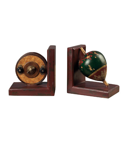 Sterling Industries AntqiUe Fishing Reel / Fishing Float Book Ends Decorative Accessory 93-9207 photo