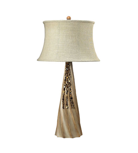 Sterling Industries Rest Haven 1 Light Table Lamp in Bleached Wood 93-9242 photo