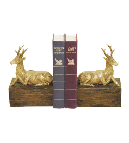 Sterling Industries Pair Resting Stag Bookends Decorative Accessory 93-9266 photo
