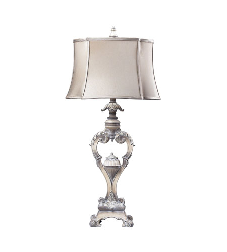 Sterling Industries Villa Romano 1 Light Table Lamp in Imperial Silver 93-9270 photo