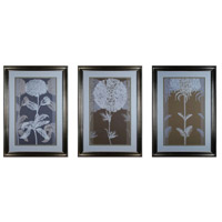 Sterling Industries Neutral Efflorescence Set of 3 Wall Art 10005-S3