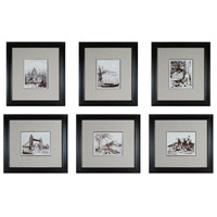 Sterling Industries Etchings  Set of 6 Wall Art 10016-S6