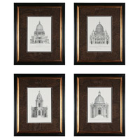 Sterling Industries Domes Set of 4 Wall Art 10019-S4