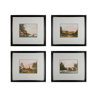 Sterling Industries Hudson River Views Set of 4 Wall Art 10026-S4