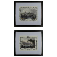 Sterling Industries Etchings with Borders Set of 2 Wall Art 10030-S2