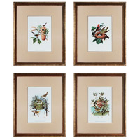 Sterling Industries Feathering Nest Set of 4 Wall Art 10032-S4