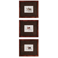 Sterling Industries Deer Set of 3 Wall Art 10033-S3