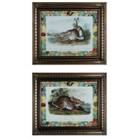 Sterling 10048-S2 Rabbits with Border Wall Art