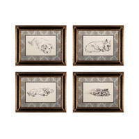 Sterling Industries Sleeping Dogs Set of 4 Wall Art 10053-S4