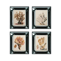 Sterling Industries Blue & Gold Coral Set of 4 Wall Art 10056-S4 photo thumbnail