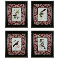 Sterling Industries Cuvier Exotic Birds Set of 4 Wall Art 10058-S4