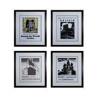 Sterling Industries Travel the World Set of 4 Wall Art 10064-S4
