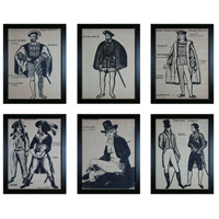 Sterling Industries Frenchmen Set of 6 Wall Art 10072-S6