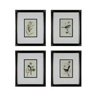 Birds on a Branch Glossy Black Frame Wall Art