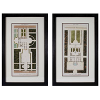 Sterling 10201-S2 Plan de la Villa Bolognetti I & Plan de la Villa Altieri 33 X 2 inch Art Print photo thumbnail